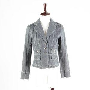 ANN TAYOR LOFT – Stripped Jacket Blazer – Size 6